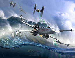 Battle over Kamino - The Tie Dal Wave by KMIStudio