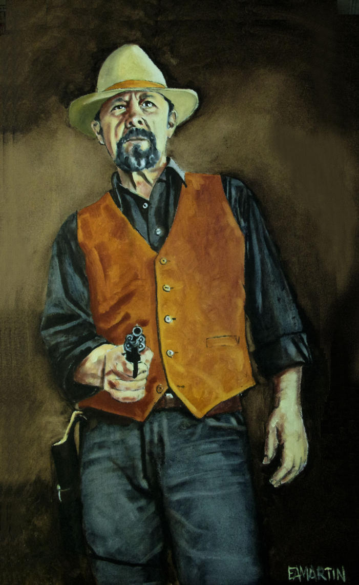 Self portrait with pistol by Edwrd984