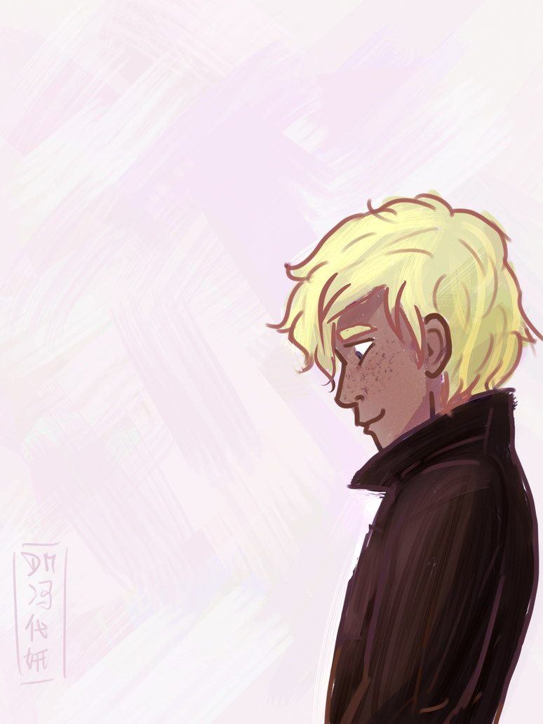 Will Solace in a leather jacket by HimekoUchia on DeviantArt