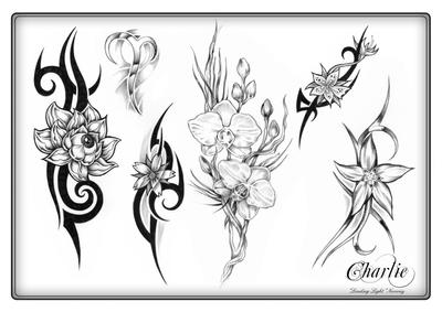 Tattoo Flash Art 1 by gettattoo on DeviantArt