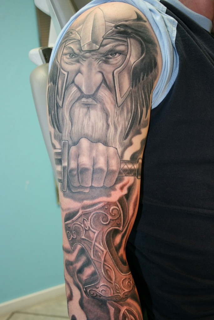 viking full sleeve project 1 by gettattoo on deviantart