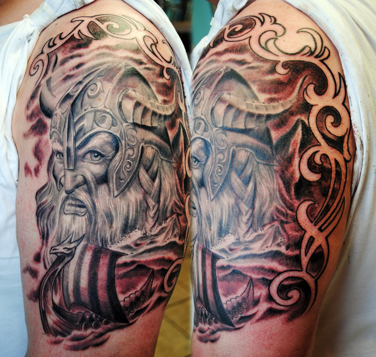 Viking half sleeve 2 by gettattoo on deviantart for Viking tattoo sleeves