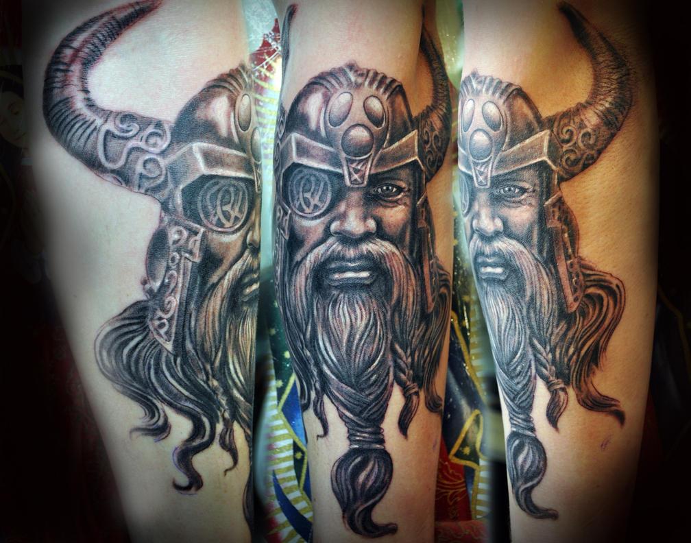 Viking sleeve progress 2 by gettattoo for Viking sleeve tattoos