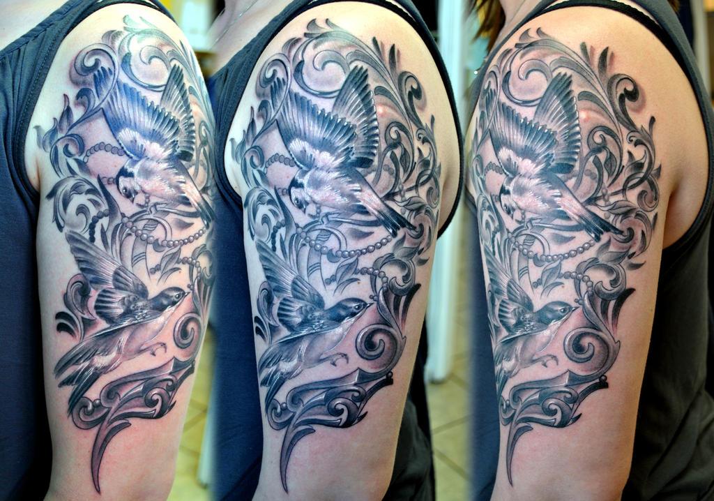 Birds Tattoo Sleeve by gettattoo on DeviantArt