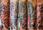 Koi tattoo sleeve