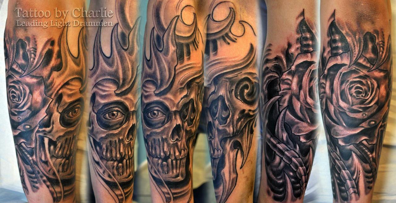 Tattoo gear tattoo sleeve mechanic tattoo mechanical tattoo gears - Gettattoo 6 0 Biomech Half Sleeve Tattoo In Progress By Gettattoo