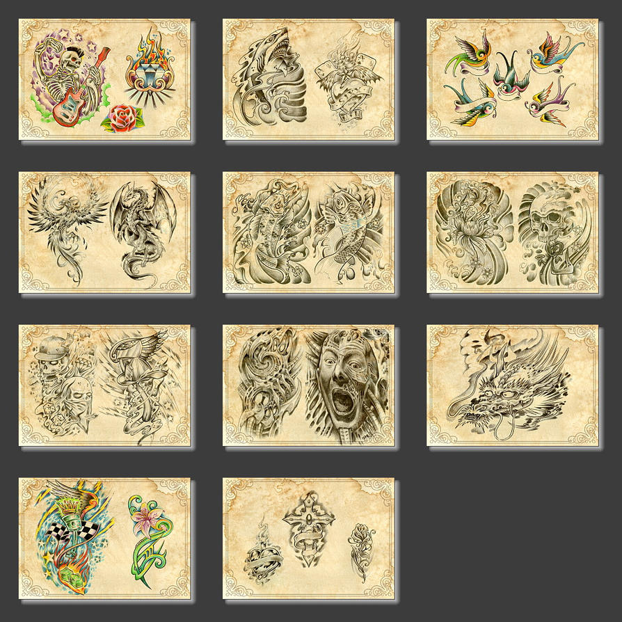 Tattoo flashes for sale by gettattoo on deviantart for Tattoo stuff for sale