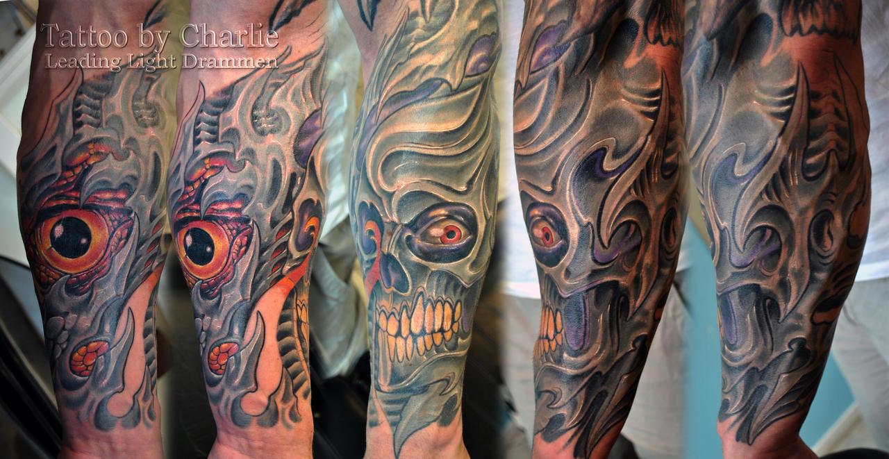 Tattoo gear tattoo sleeve mechanic tattoo mechanical tattoo gears - Mythe2heaven 0 0 Half Sleeve Biomech Tattoo By Gettattoo