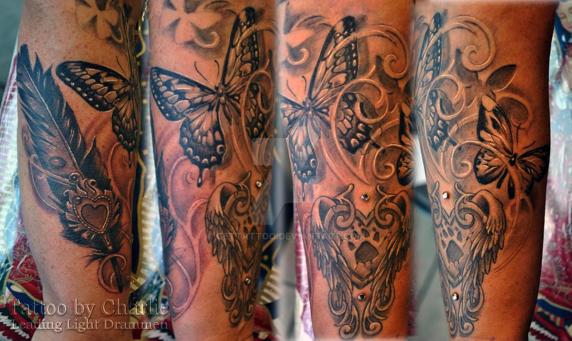 feminine half sleeve tattoo in progress by gettattoo on deviantart. Black Bedroom Furniture Sets. Home Design Ideas