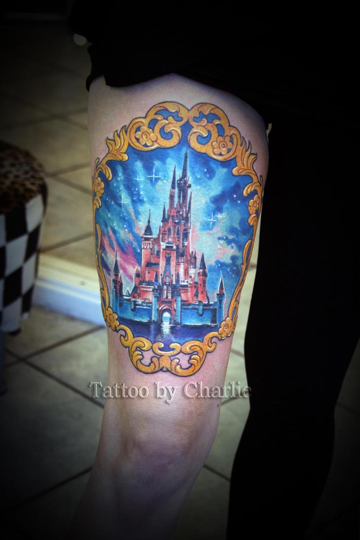 disney castle tattoo by gettattoo on deviantart. Black Bedroom Furniture Sets. Home Design Ideas