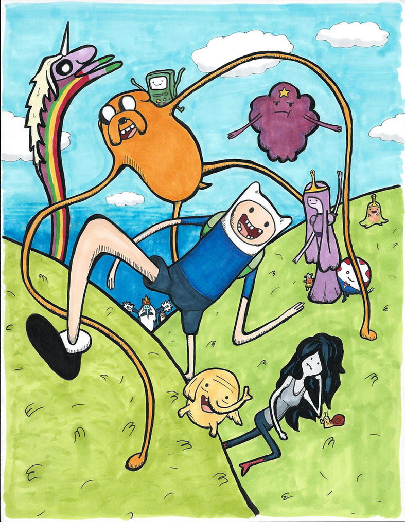 Adventure Time Happy Time in Ooo by augiewan