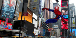 fan art spiderman times square by JohannLacrosaz