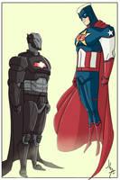 Iron Bat vs Super Captain by JohannLacrosaz