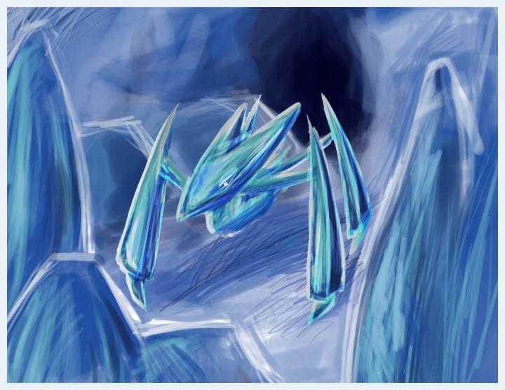 Insangel Weapons Concept__Ice_Golem_by_Khaiya