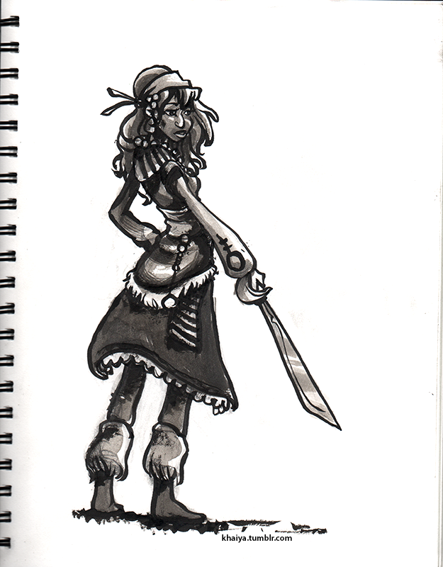 Inktober Pirate by Khaiya