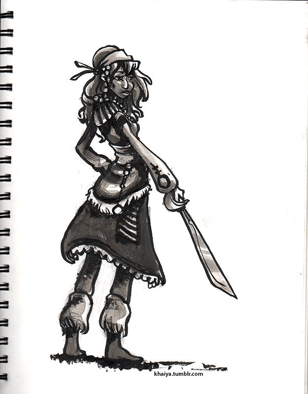 Inktober Pirate by Khaiya