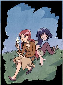 Annie and Kat from Gunnerkrigg Court