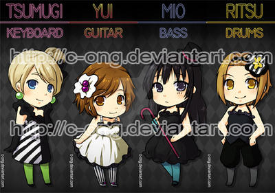 K-ON Bookmark by c-ong