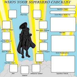Superhero Checklist Meme by Kasekine