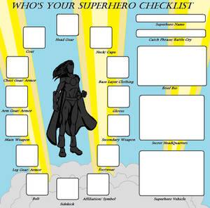 Superhero Checklist Meme