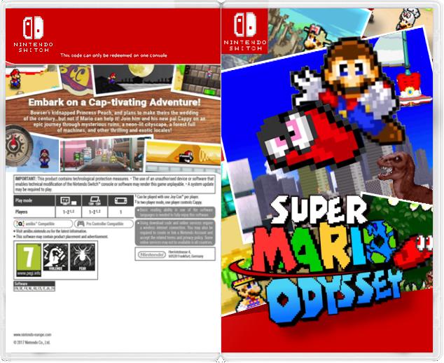 Super Mario Odyssey 2d Box Art Fan Art By Ben10fan355 On Deviantart