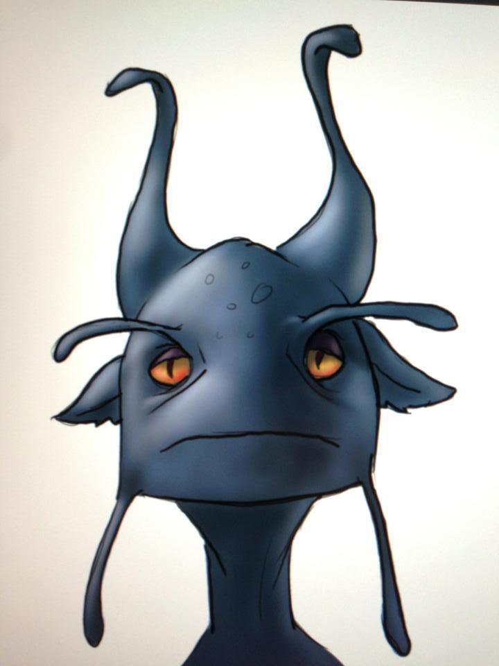 Blue Alien Doodle by GrantWilson