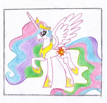 Gift: Princess Celestia by PrincezzRee