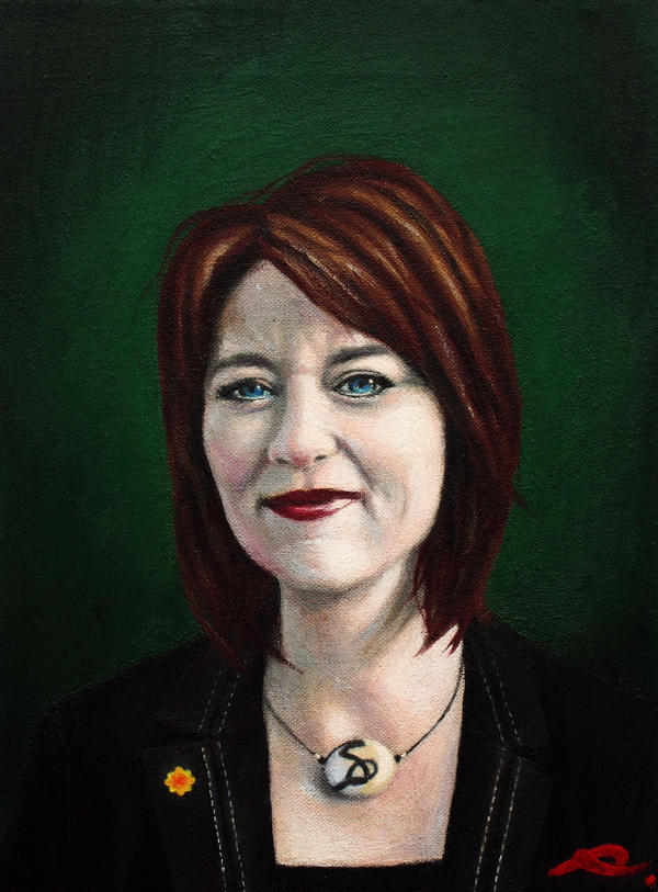 Leanne Wood AM by RhynWilliams