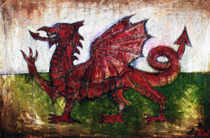 Draig Goch - Red Dragon by Rhyn-Art