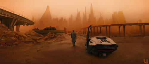 Blade Runner drawing by Rhyn-Art