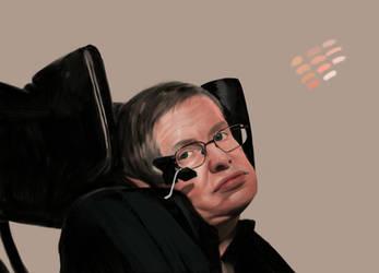 WIP Stephen Hawking 2 by Rhyn-Art
