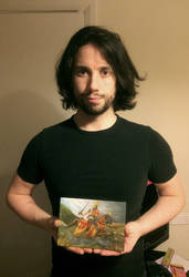 Me with my painting by Rhyn-Art