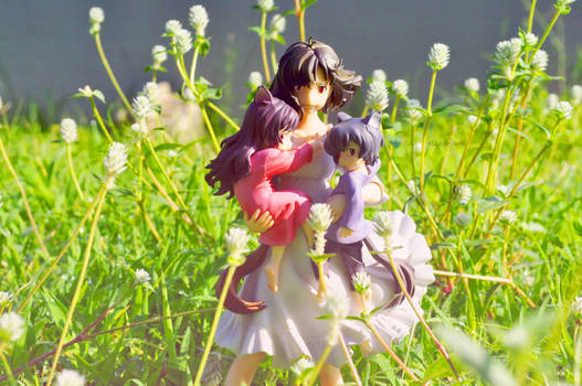 THE WOLF CHILDREN HANA AND AME AND YUKI FIGURE