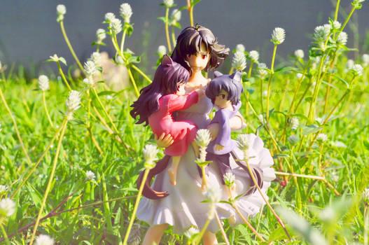 THE WOLF CHILDREN HANA AND AME AND YUKI FIGURE