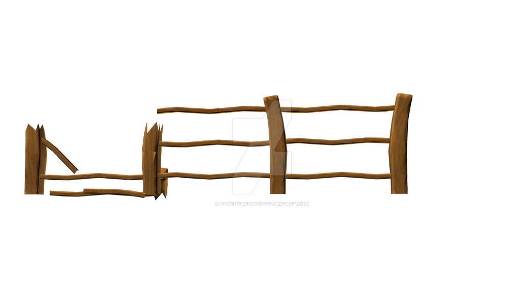Cartoon broken fence by fadedpanduhh on deviantart