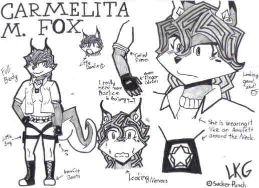 carmelita fox new style by linkueigrandmaster on deviantart