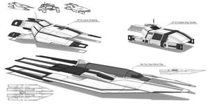 Systems Alliance/Cerberus Support Ships by Ravarkian
