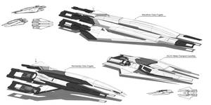 Systems Alliance/Cerberus Frigates by Ravarkian