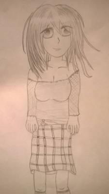 Manga Girl Checkered Skirt