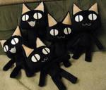 Kuro Cat plushies