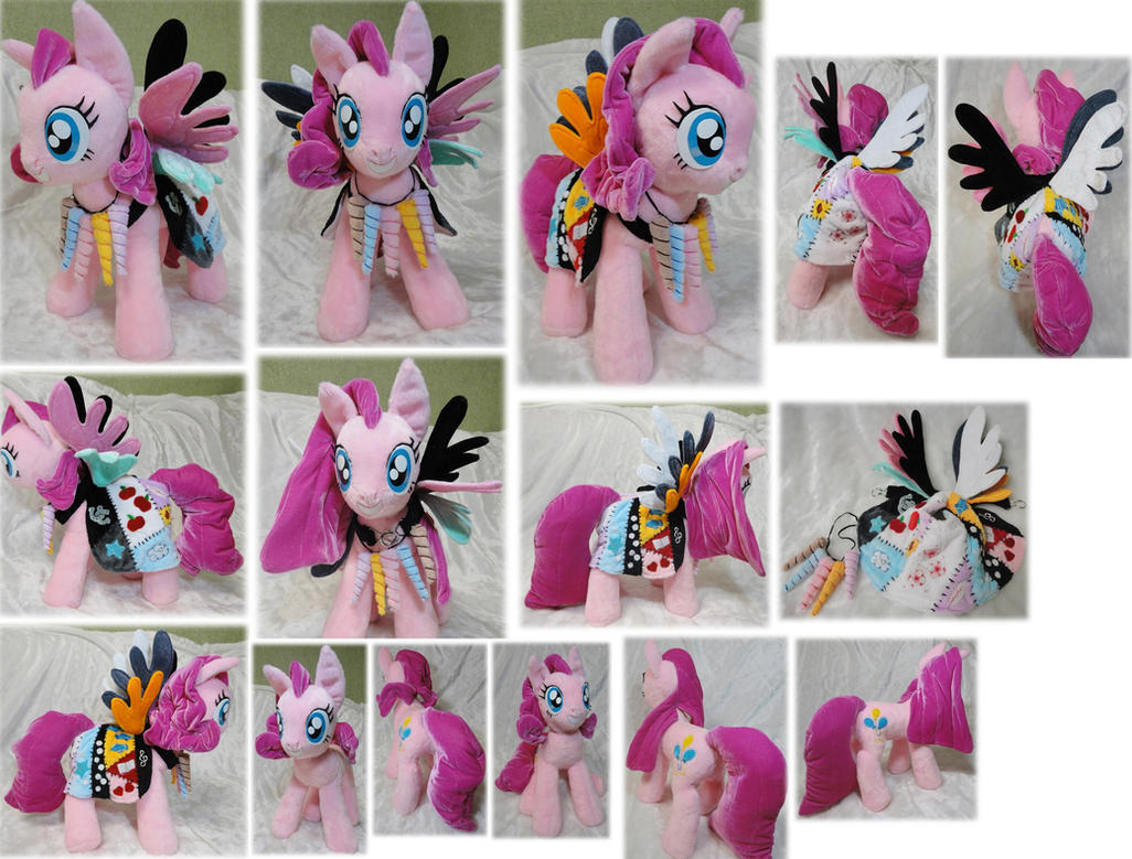 Cupcakes Pinkie Pie plushie by Rens-twin