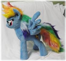 Rainbow Dash plushie, pattern test by Rens-twin
