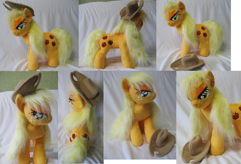 Wet mane Applejack plushie by Rens-twin
