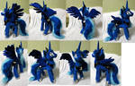 Luna plushie with furry mane, commission