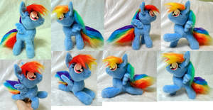 Small posable Rainbow Dash (commission) by Rens-twin