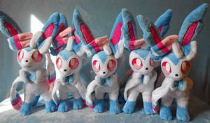 Shiny Sylveons (up for sale) by Rens-twin