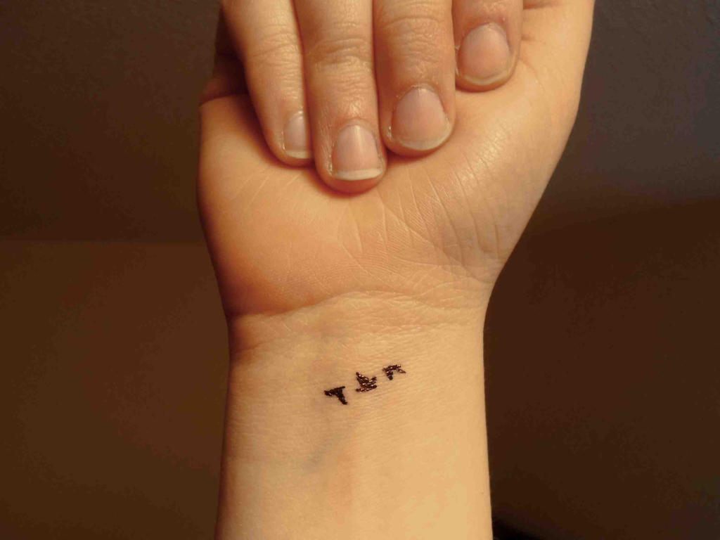 three flying birds tattoo by elshcari714 on deviantart. Black Bedroom Furniture Sets. Home Design Ideas