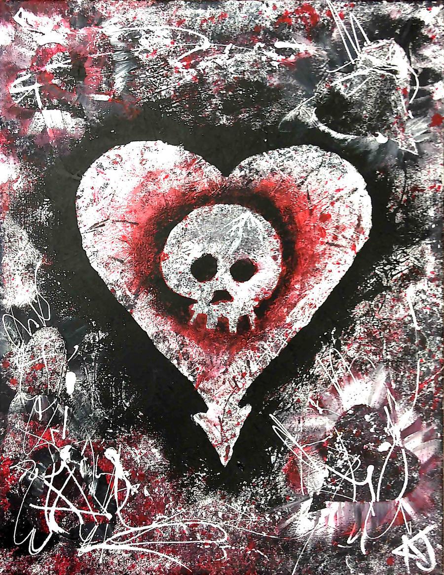 ... kortniiXzombii Alkaline Trio Heart and Skull by kortniiXzombii