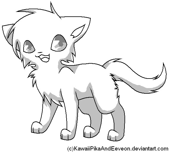 Chibi Cat Template By Kpae On Deviantart