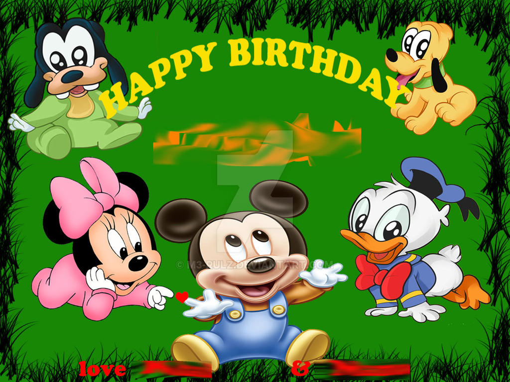Baby disney birthday card by m3 rulz on deviantart baby disney birthday card by m3 rulz kristyandbryce Choice Image